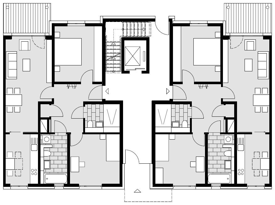 Wohnanlage rheinwohnungsbau - Moderne grundrisse wohnungen beispiele ...