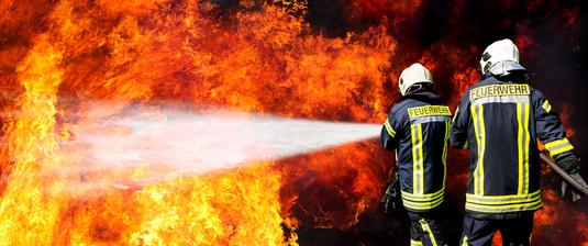 Feuerwehr in Aktion
